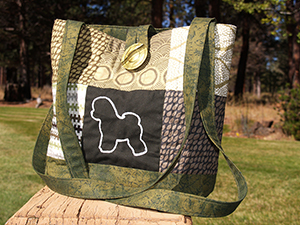 Bichon Frise quilted purse